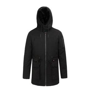 Casaco longo acolchoado de inverno masculino e casaco para exterior 100% algodão Fauux Fur