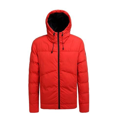 معطف شتوي مبطن للرجال وسترة برتقالية اللون