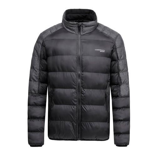 Men's Padding Winter Jacket Black Nylon Fabric