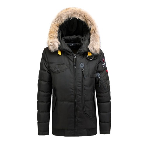 Men's Winter Padded Jacket and Coat Outdoor Faux Fur