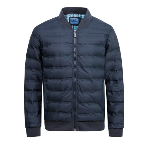Men's Padded Winter Coat and Jacket Fabirc Pasted Process