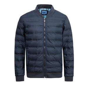 Casaco acolchoado de inverno masculino e jaqueta Fabirc Colado Processo