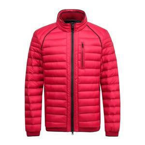 Casaco acolchoado e jaqueta masculina de inverno na cor vermelha