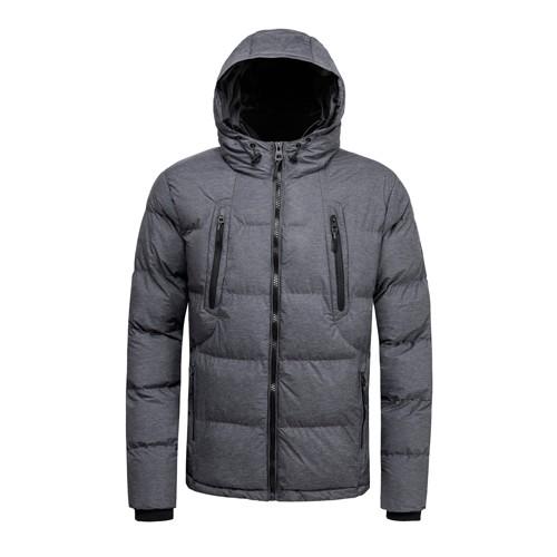 Men's Padded Winter Coat and Jacket Grey Melange Color