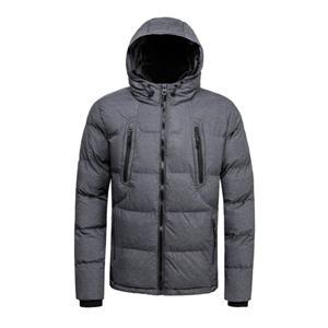 Casaco acolchoado de inverno masculino e jaqueta cinza melange cor
