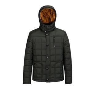 Jaqueta acolchoada de inverno masculino e casaco com capuz
