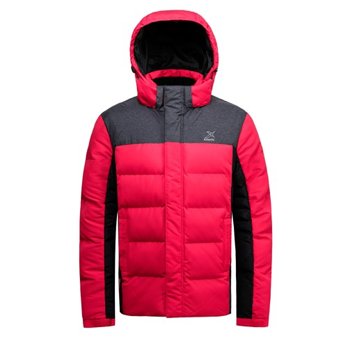 Men's Padded Jacket and Coat with Hooded Red Color