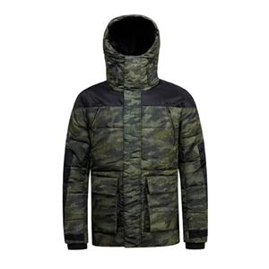 Men's Padded Jacket and Coat with Hooded Camouflage Green