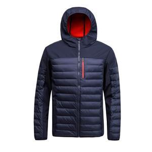Jaqueta acolchoada masculina e casaco em tecido softshell