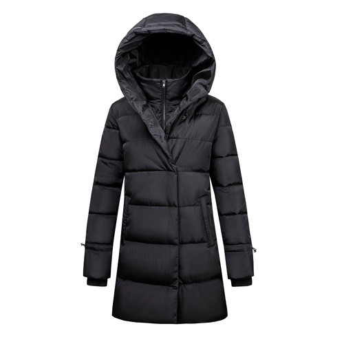 Jaqueta longa acolchoada feminina e casaco da moda