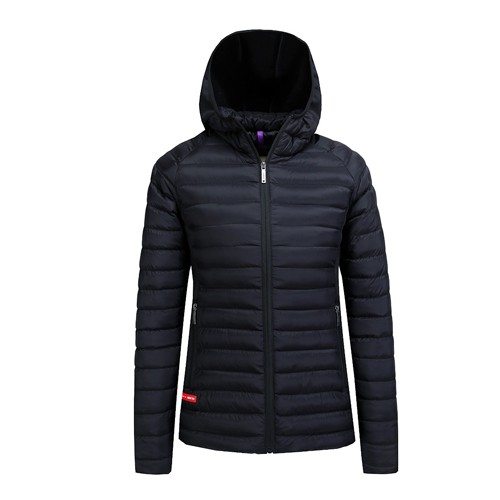 Women Ladies Parka Jackets Casual Light Outerwear Solid Hooded Zippers Pocket