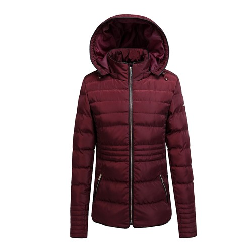Women Padded Jacket for Outdoors Polyester Wadding