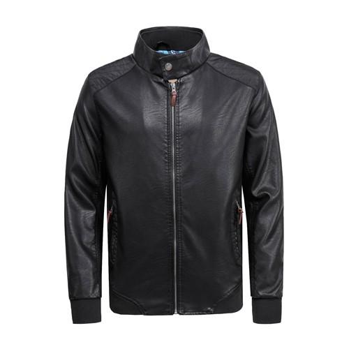 Men's PU Leather Jacket Black
