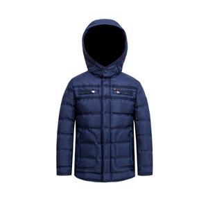 Jaqueta acolchoada com capuz para processamento de fita térmica sem costura para meninos
