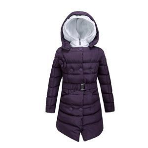 معطف الشتاء للفتيات أزياء ذات غطاء مزدوج