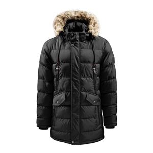 Jaqueta masculina com capuz comprido