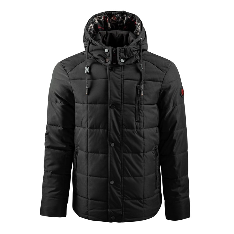 Fashionable Printed Lining with Hooded Jacket for Men