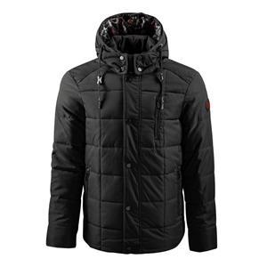 Forro estampado elegante com jaqueta com capuz para homens
