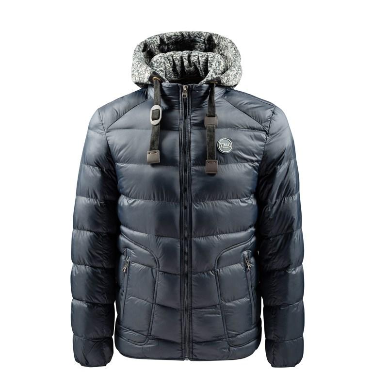 Vêtements de sport d'hiver décontractés pour hommes avec manteau à capuche