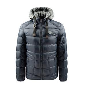 Roupa esportiva masculina de inverno casual com casaco com capuz