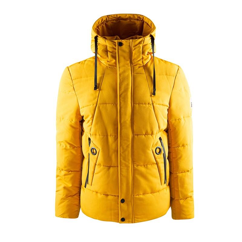 Veste décontractée à la mode moutarde pour homme