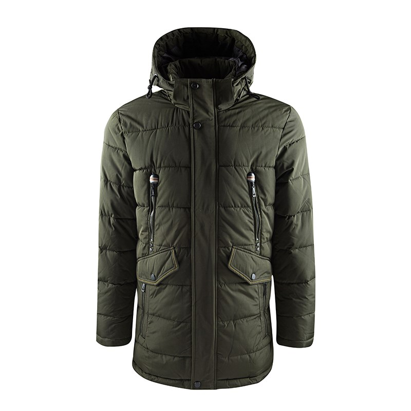 Winter Warmer Hooded Olive Parka for Male