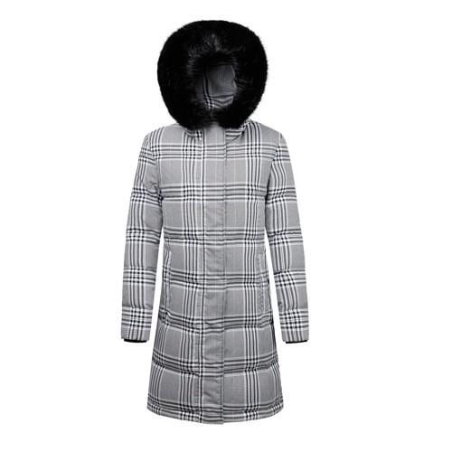 Langer Jackenmantel für Frauen mit Kapuze