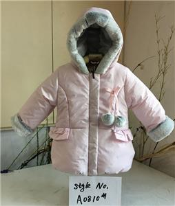 Girl Hooded Pretty Jacket Coat