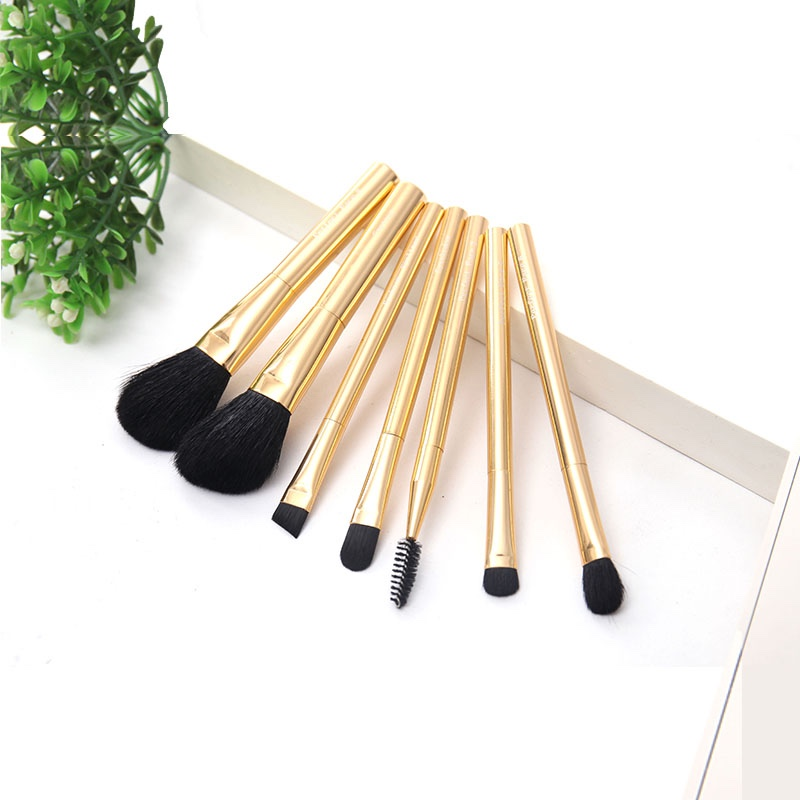 Affordable Round Rose Gold Blending Makeup Brush Set