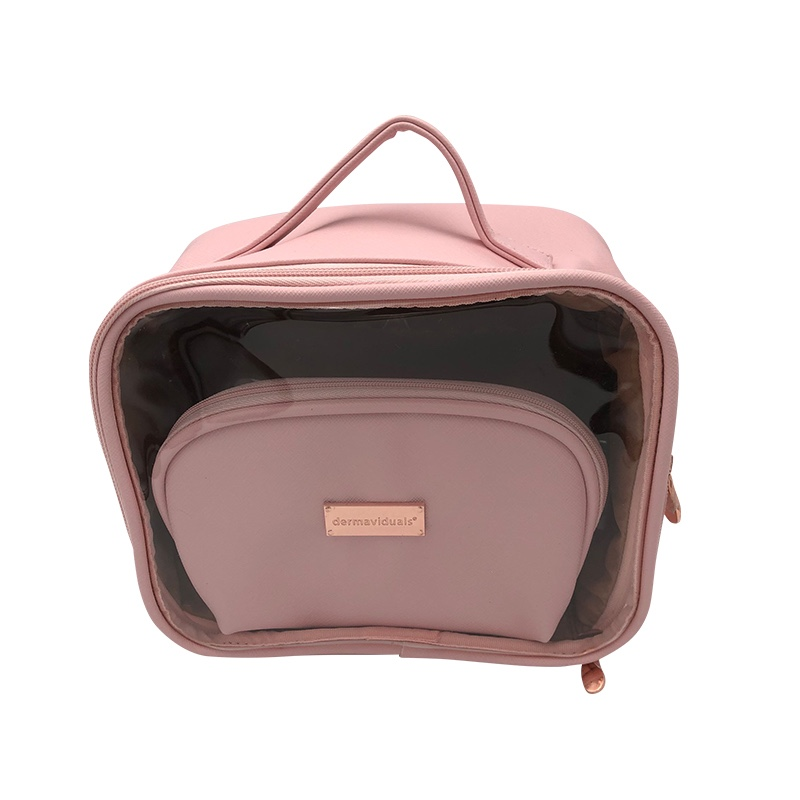 Pink Vanity Case Makeup And Toiletry Pouch Bags