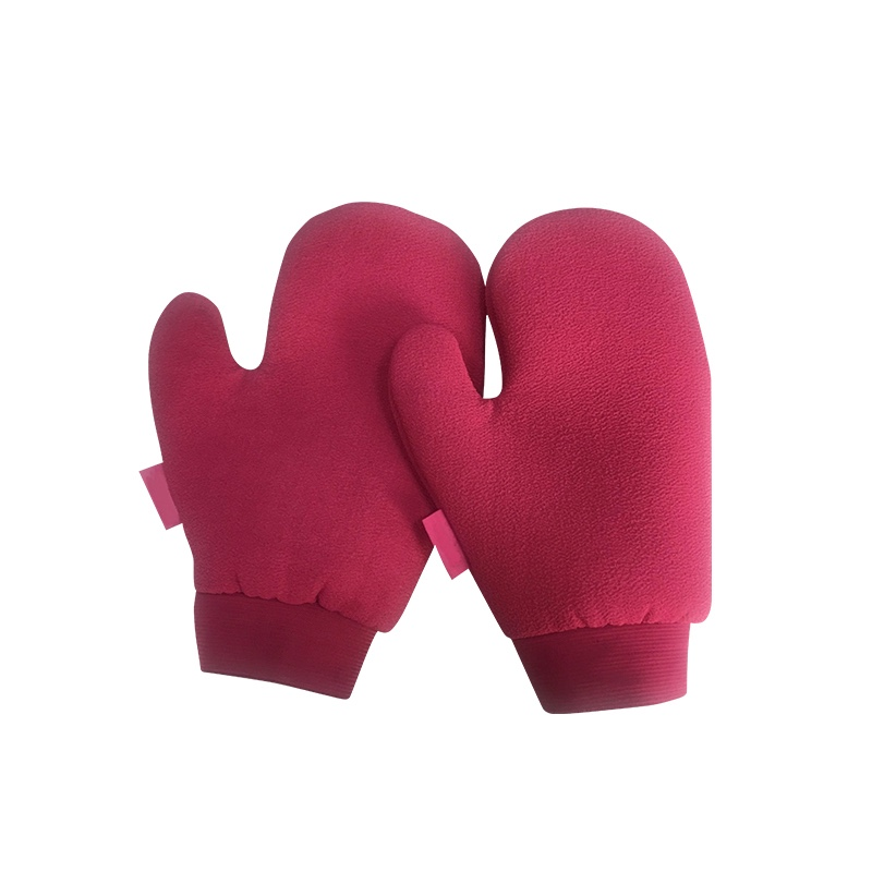 Silk Humman Scrub Hair Removal Exfoliating Mitts Gloves