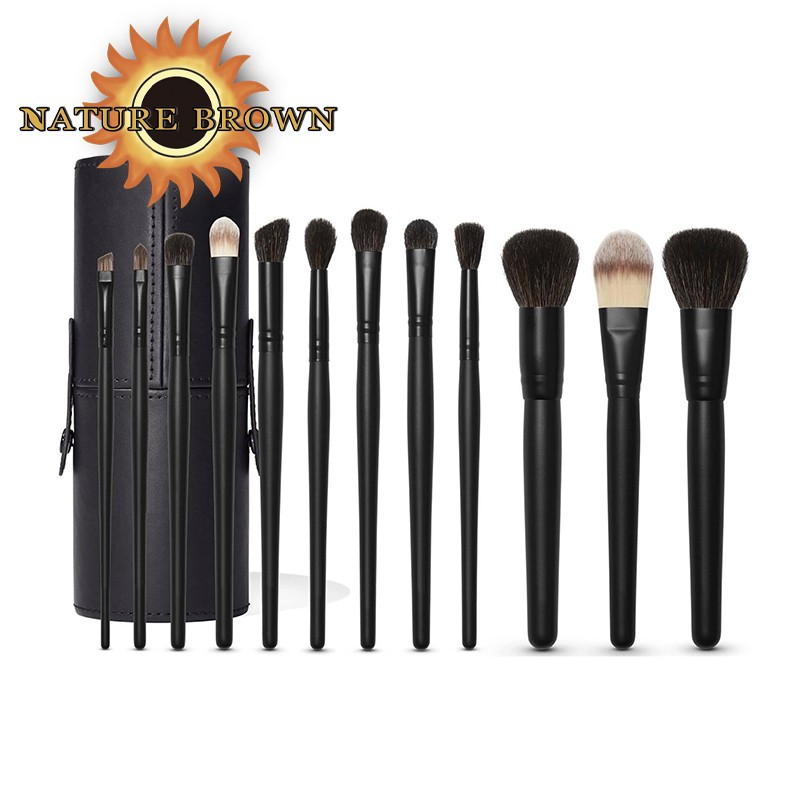 Personalized Synthesis 10 Pieces of High-quality Professional Make up Brush Set With Black Handle other Makeup Brushes