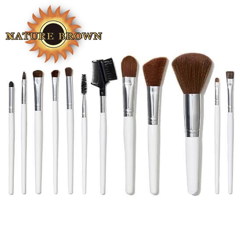 Personalized Synthesis 12 Pieces of High-quality Professional Make up Brush Set With Black Handle other Makeup Brushes