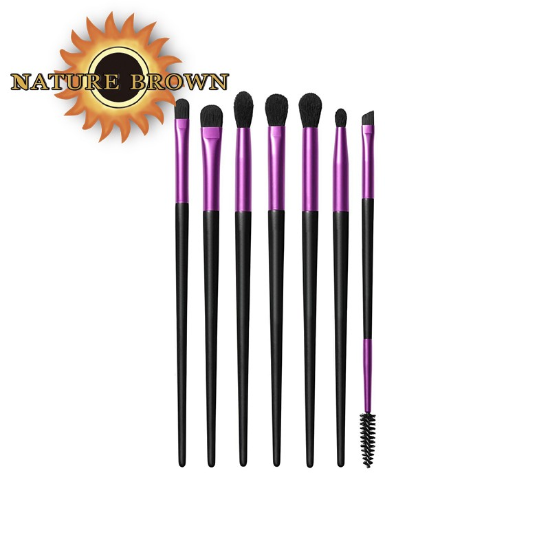 7 PCS Hot Sale Factory Direct Sales New Style High Quality Multifunctional Collection Makeup Eye Makeup Brush Set