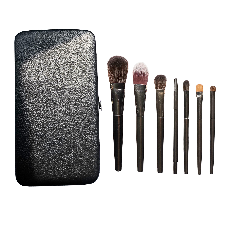 7 pcs metal handles Wholesale Cosmetics Cosmetic Brushes Packaging Private Label Professional Cosmetic Brush Makeup Tools