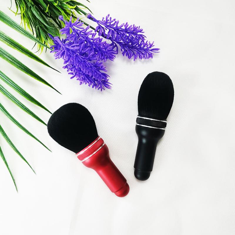 Microphone shaped makeup brush Professional Custom Logo White Eco Friendly Synthetic Hair Diamond Makeup Brush Set