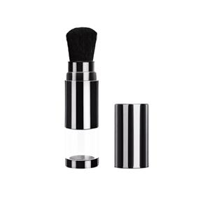 Eco-friendly Black Translucent Make up Tool Custom Logo Portable Retractable Powder Makeup Brush
