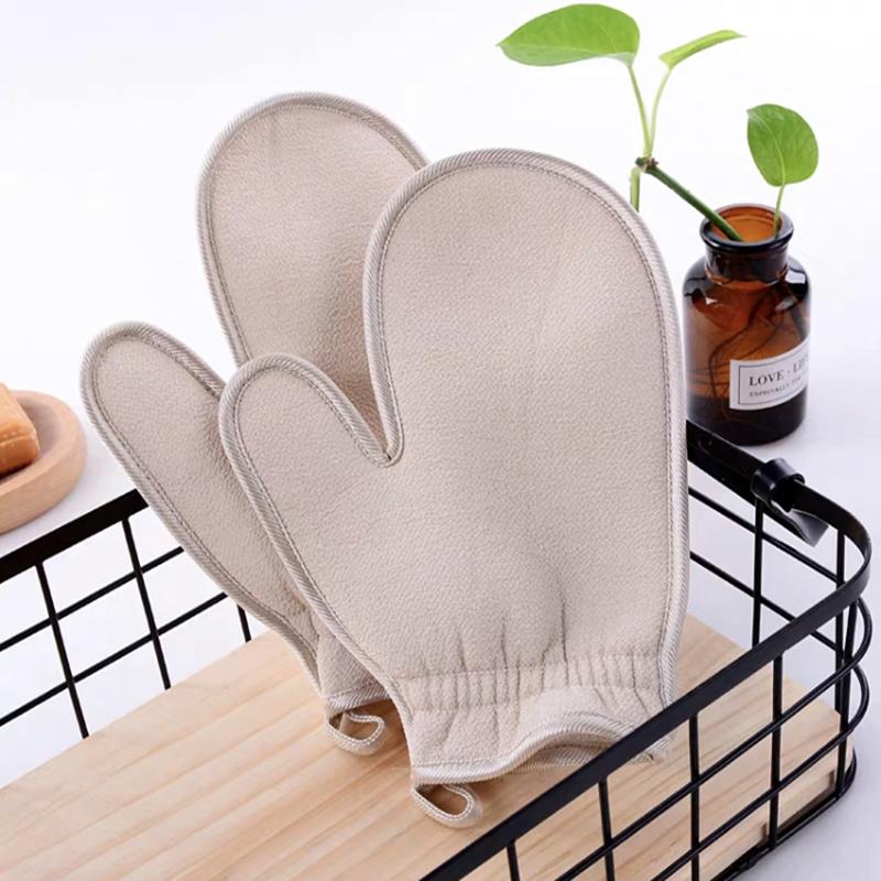 Private Label OEM Professional Various Body Scrub Glove Soft Skin Care Bath Glove Scrub Silk Kese Korean Scrub Mitt