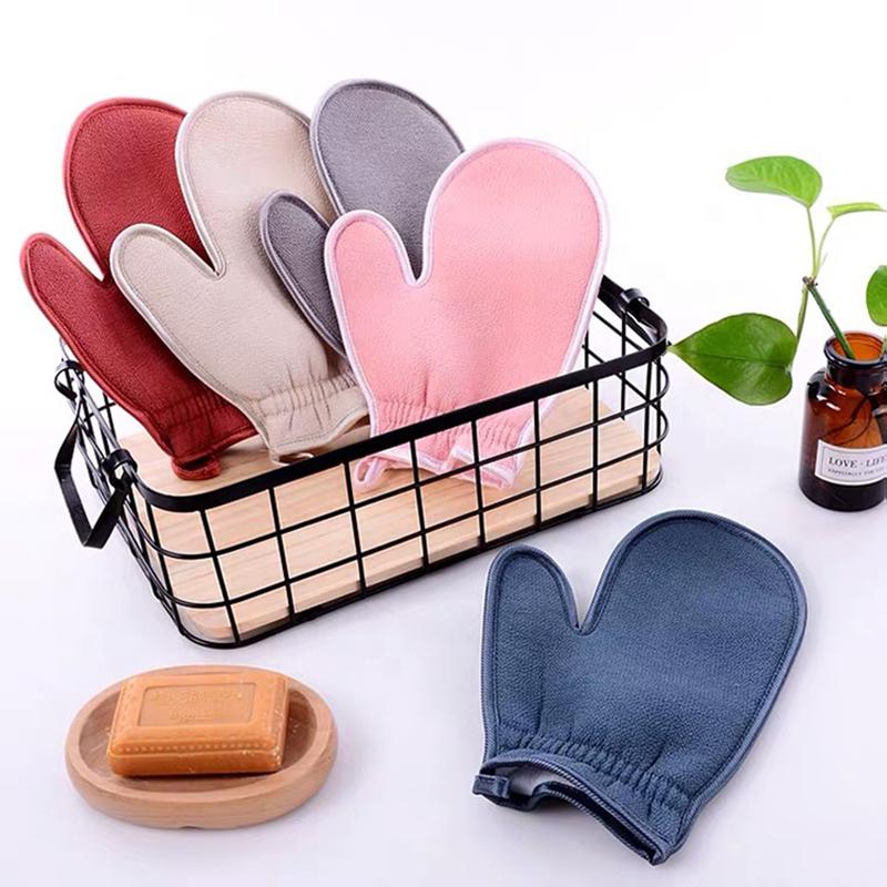 Hot Private Label OEM Professional Various Body Scrub Glove Soft Skin Care Bath Glove Scrub Silk Kese Korean Scrub Mitt