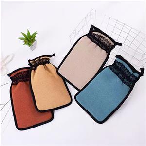 Professional Body Gentle Shower Peeling Bath Lace Silk Kese Custom Scrub Exfoliating Spa Gloves