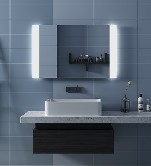 Large Illuminated Bathroom Mirror Light