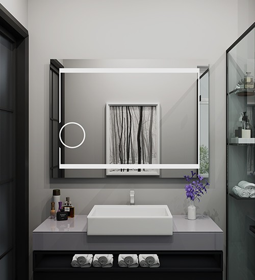 Lighted Vanity Led Mirror For Hotel Bathroom