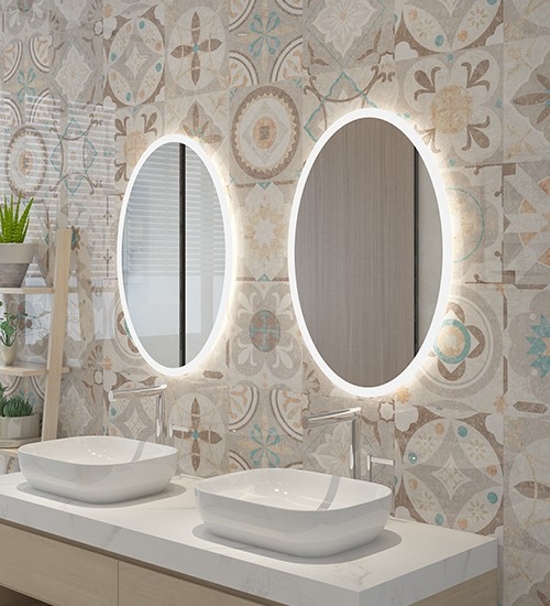 Round Bathroom Mirror Washbasin Toilet Mirror