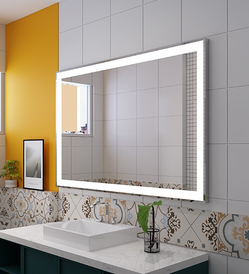 Surface mount rectangle LED lighted mirror Factory