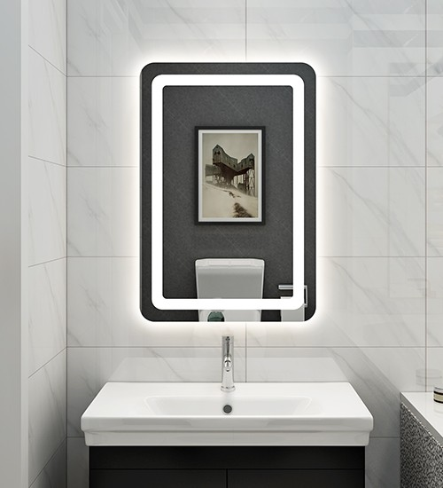 Illuminated Heated Mirror For Bathroom