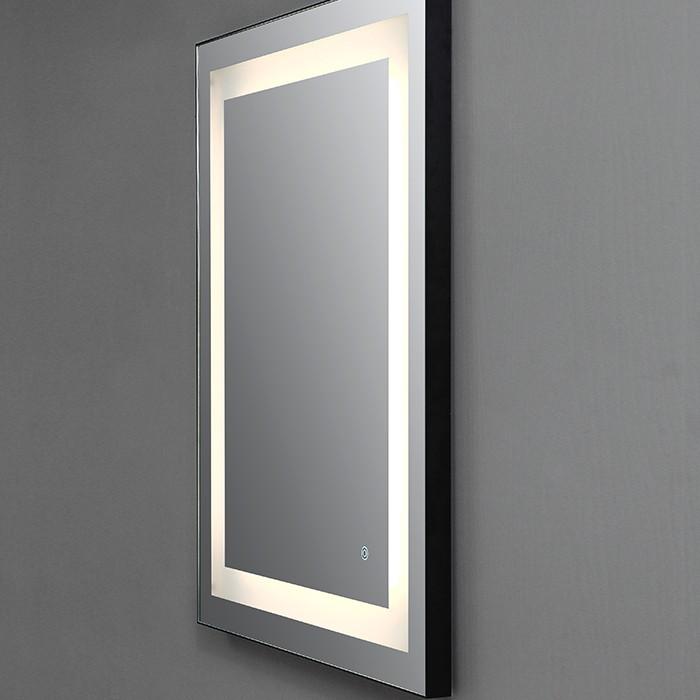 Thin Black framed led backlit mirror Manufacturers, Thin Black framed led backlit mirror Factory, Supply Thin Black framed led backlit mirror