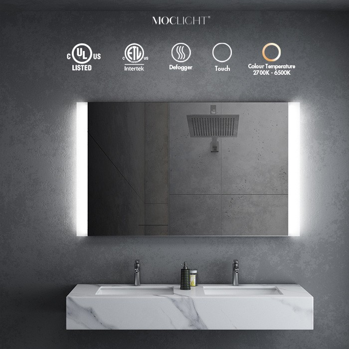 LED Lighted Bathroom Wall Mounted Vanity Mirror for hotel