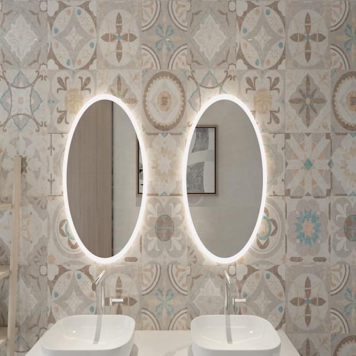 Edge-lit Touch Sensor LED Oval Mirror Manufacturers, Edge-lit Touch Sensor LED Oval Mirror Factory, Supply Edge-lit Touch Sensor LED Oval Mirror