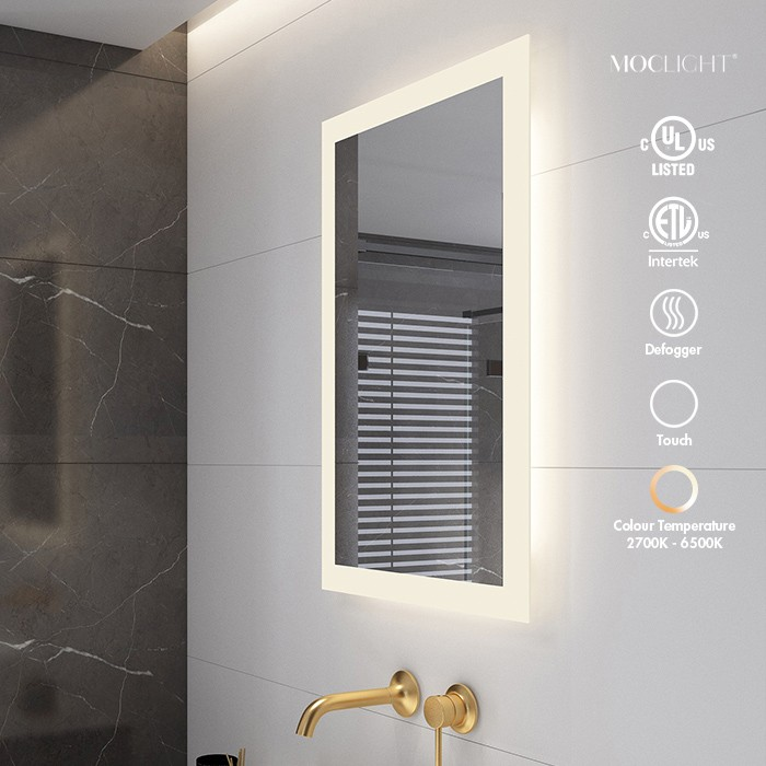 Luxury hotel bathroom dimmable LED Lighted mirror Manufacturers, Luxury hotel bathroom dimmable LED Lighted mirror Factory, Supply Luxury hotel bathroom dimmable LED Lighted mirror