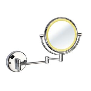 8 Inch Two-Sided Swivel Lighted Wall Mount Mirror